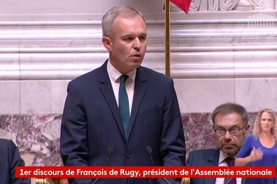 François de Rugy au perchoir