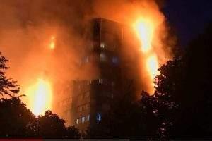 Incendie d'une tour à Londres (capture France24)