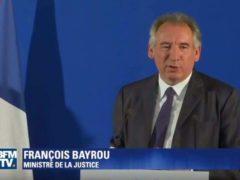 Le ministre de la Justice, François Bayrou