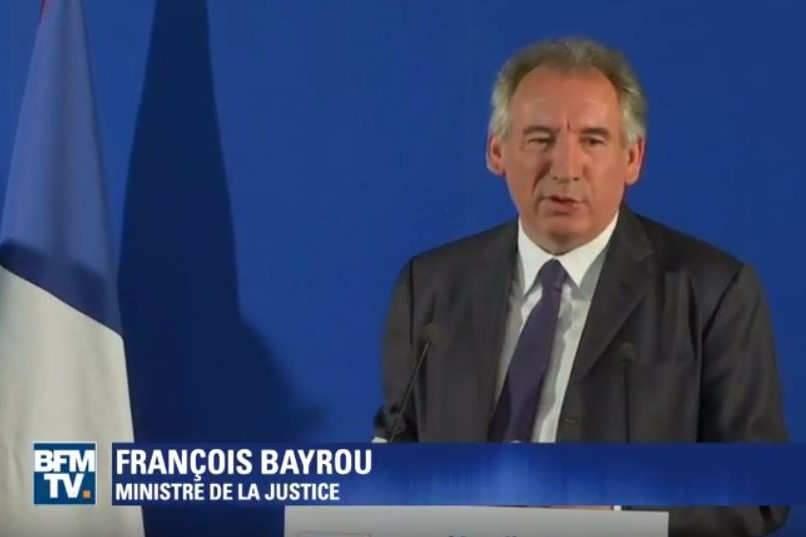 Politique : la moralisation selon Bayrou