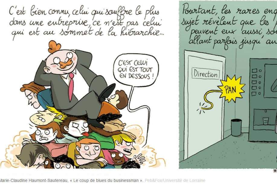 Ma thèse en BD : « Le coup de blues du businessman »