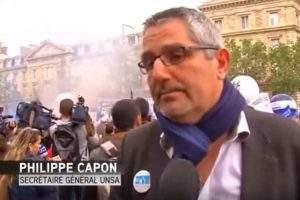 Philippe Capon, secrétaire géénral UNSA-Police (capture Itélé)
