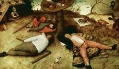 « Le Pays de Cocagne » Pieter Brueghel l'Ancien (1567) - Alte Pinakothek, Munich. WIkimedia Commons