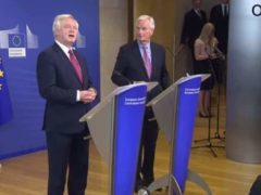 EU Chief Negotiator Michel Barnier & Brexit Secretary David David t(breaking news)