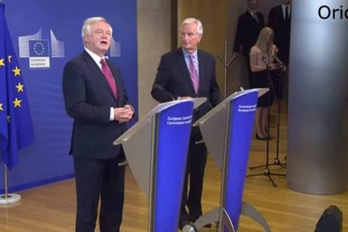 EU Chief Negotiator Michel Barnier & Brexit Secretary David David t(breaking news)
