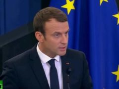 Emmanuel Macron au Parlement de Strasbourg (capture RT France)