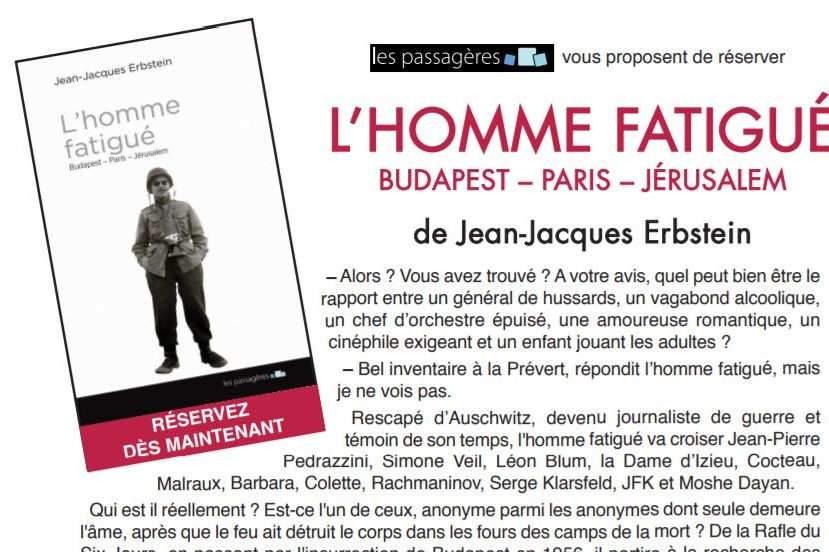 « L'Homme fatigué » de Jean-Jacques Erbstein