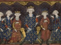 Philippe IV le Bel (au centre) et sa famille. Wikimedia Commons
