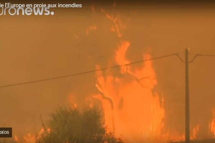 Nouveaux incendies dans le sud (capture EuroNews)