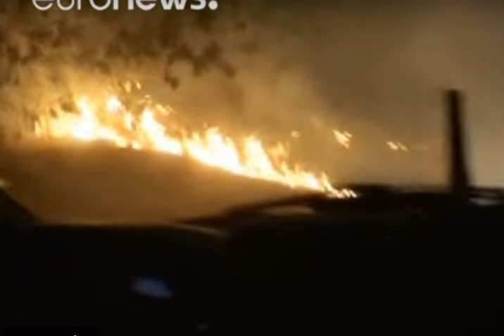 Violents incendies dans le sud de la France (Capture EuroNews)