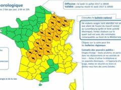 Alerte aux orages (Météo France)