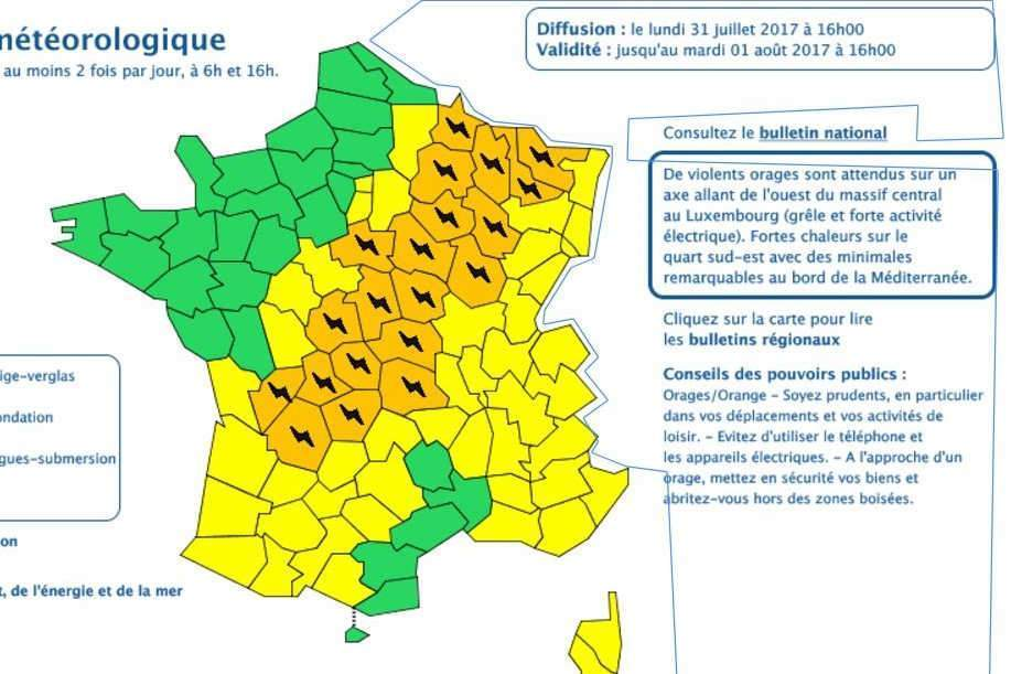 Météo : attention aux orages !