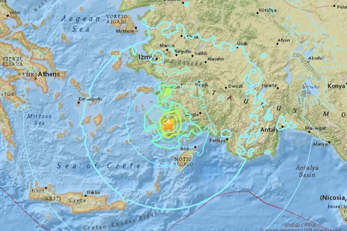Tremblement de terre en Grèce