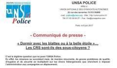 Communiqué de l'UNSA-POLICE