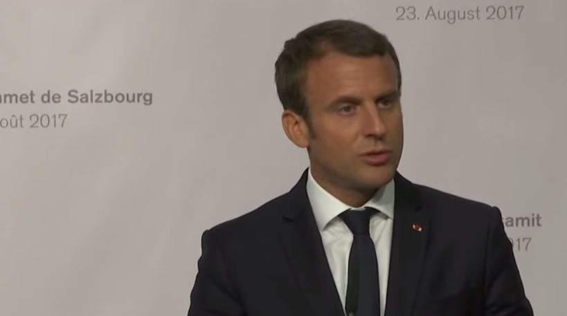 Conférence de presse d'Emmanuel Macron et du chancelier autrichien Christian Kern (RT France)