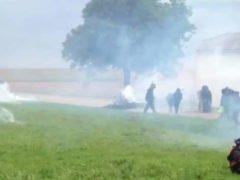 Affrontements à Bure entre manifestants et gendarmes