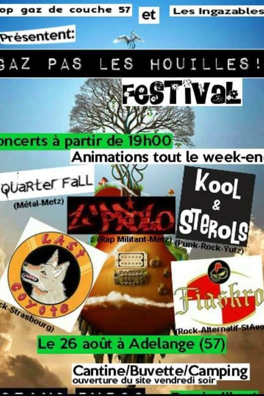 Un festival Gaz pas les Houilles en Moselle fin août (Affiche)