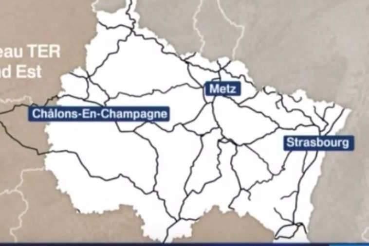 Les lignes TER Grand-Est (France3)