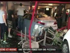 Le 15 août, un conducteur a foncé sur une pizzeria à Sept-Sorts tuant une jeune fille. (Capture France 2)