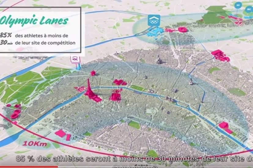 Les jeux dans le centre de Paris (illustration Paris 2024)