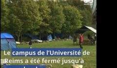 L'université fermée à cause de migrants (capture Youtube)