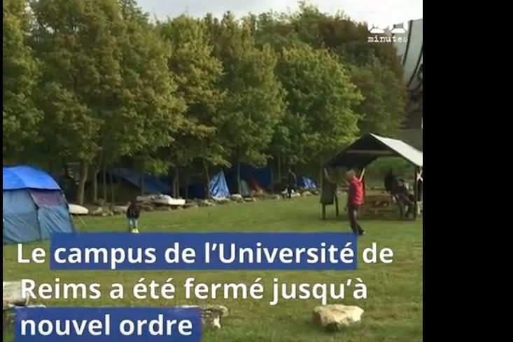 L'université fermée à cause de migrants (capture Youtube)