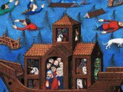 Le Déluge, Maître de l'échevinage, Rouen, XVe siècle BNF, CC BY-SA
