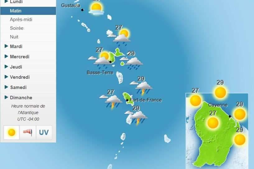 Alerte rouge en Guadeloupe à l'approche de l'ouragan Maria (Météo France)