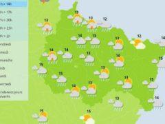 Pluie et inondations pour ce jeudi 14 septembre 2017 (Météo France)