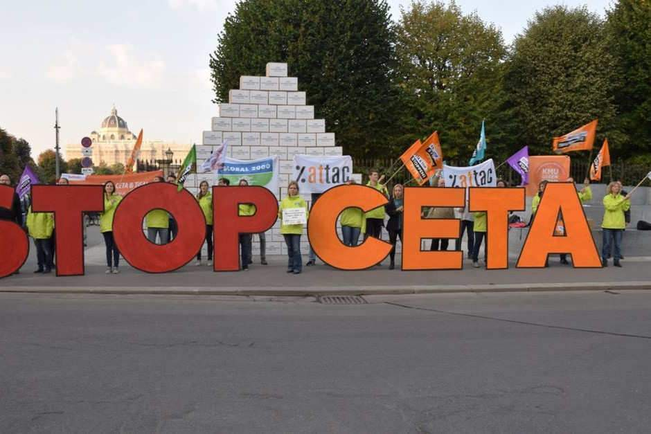 CETA Aktion Bundeskanzleramt | by Global2000 CETA Aktion Bundeskanzleramt | by Global2000