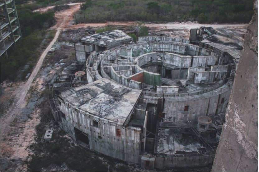 Juragua site in Cuba, where building of two Russian-designed 413 MWe reactors started in 1983 and was abandoned in 1992 Photography by © Darmon Richter, August 2014, see http://www thebohemianblog com/2014/08/cuba-abandoned-unfinishedsoviet-nuclear-power-station html