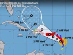 La trajectoire de l'ouragan Maria (Météo France)