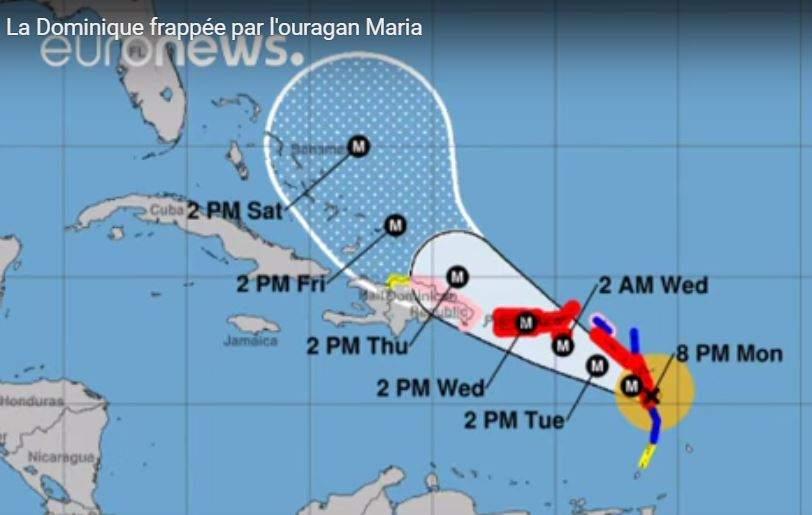 L'ouragan Maria frappe la Guadeloupe