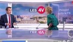 Florian Philippot, annonce sur France 2 qu'il quitte le FN (Capture France 2)