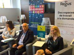 Richard Goldkranz entouré de Nathalie Pierrel et de Stéphanie Narbey (DR)