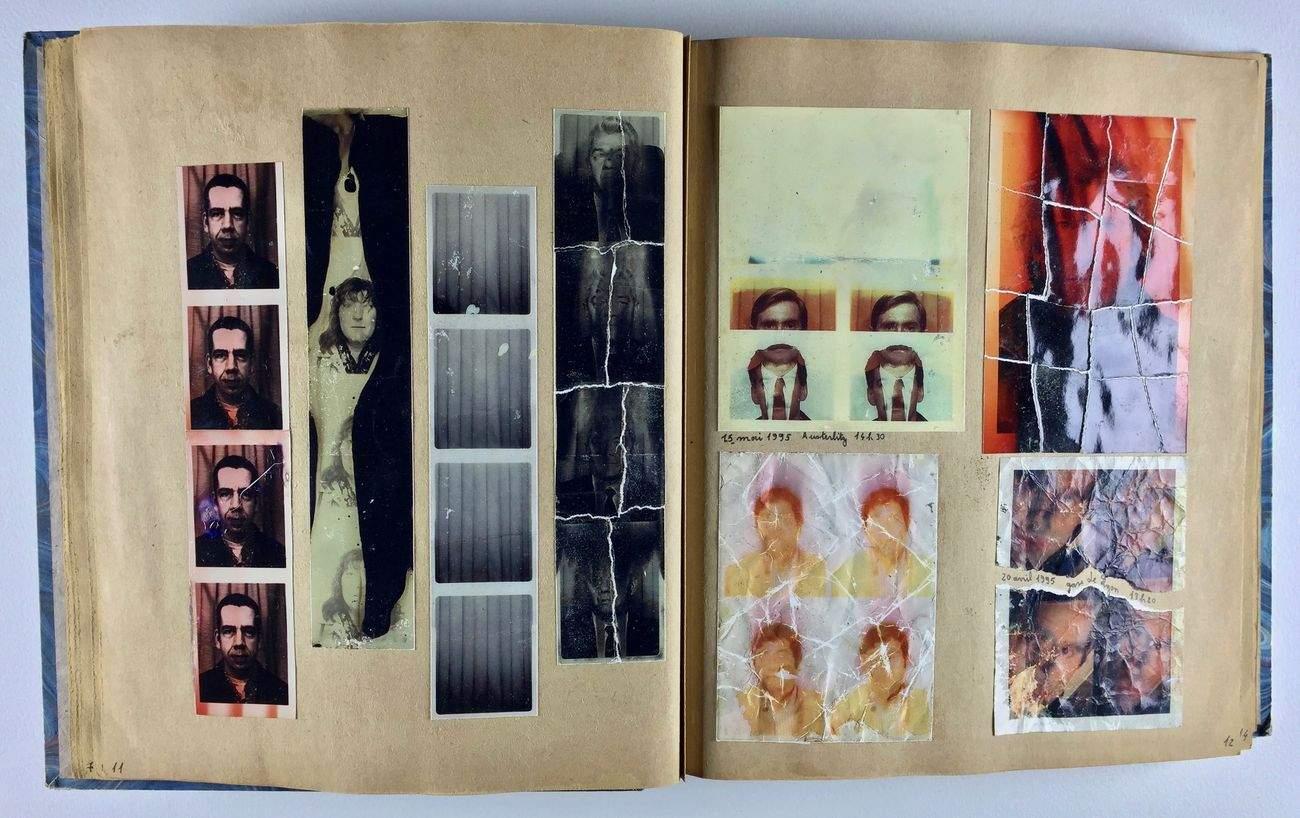 """Cahier de photomatons (""""Amélie"""")."""