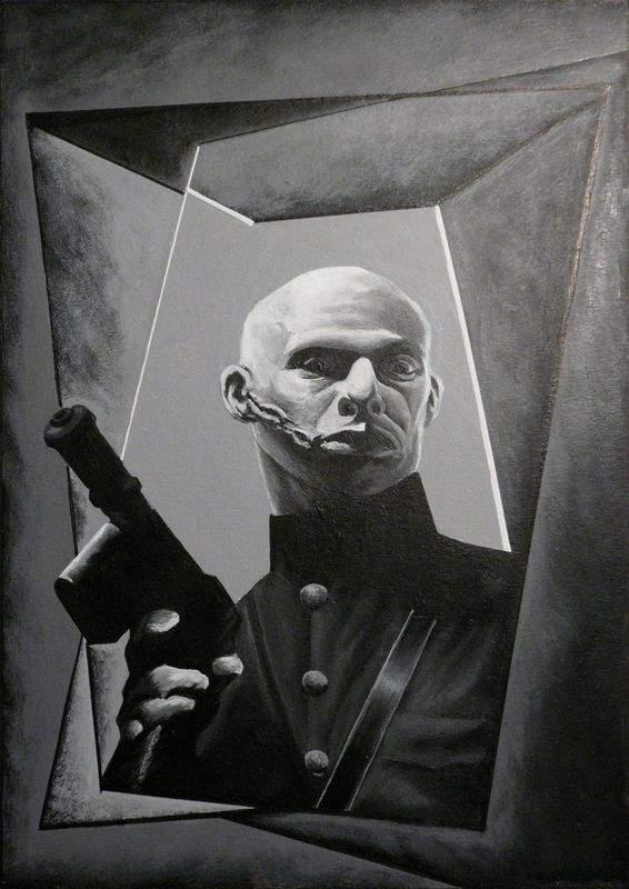 """Peinture de Marc Caro (""""Le bunker de la dernière rafale"""")."""