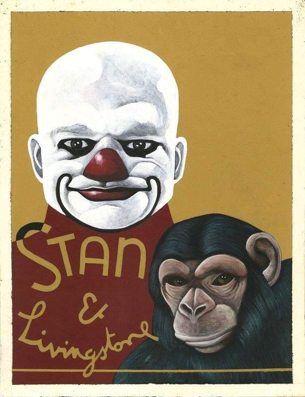 "Peinture clown (Marc Caro/""Delicatessen"")."