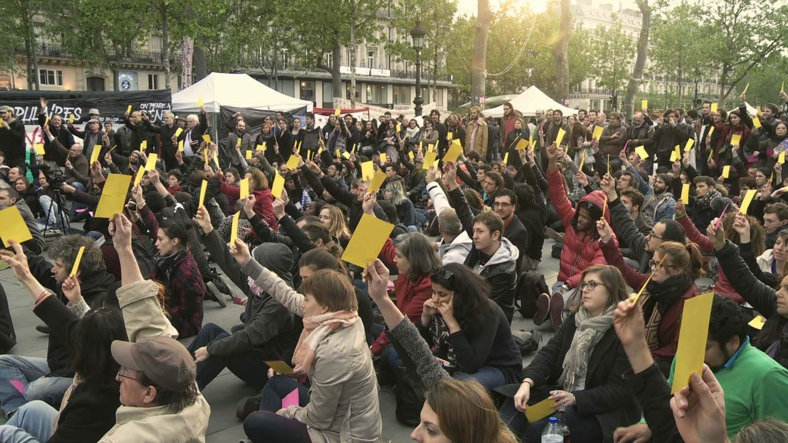 Nuit debout au printemps 2016, place de la République, un exercice de démocratie participative.