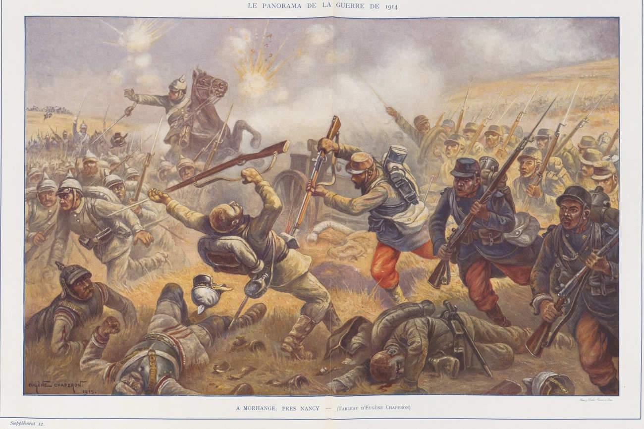 Le 20 août 1914, 22.000 jeunes Français sont morts au combat. (Morhange-Chaperon (wikimedia Commons)