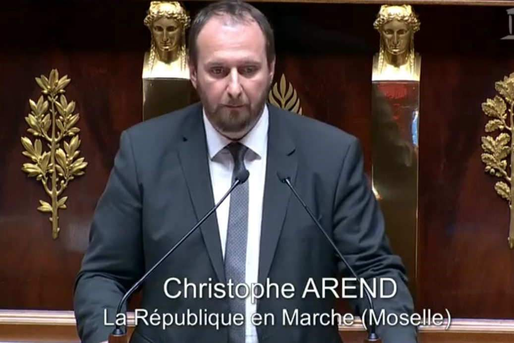 Le député Christophe Arend à l'assemblée nationale (capture A.N.)