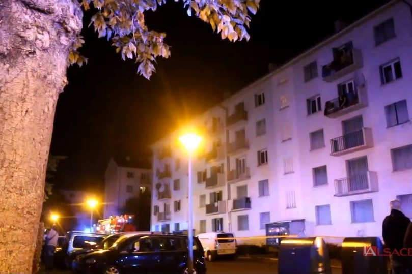 Cinq morts dans un incendie à Mulhouse (capture Dailymotion, L'Alsace)