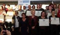 Remise des trophées aux tuteurs du secteur sanitaire et social (photo Bodez- Grand Est)