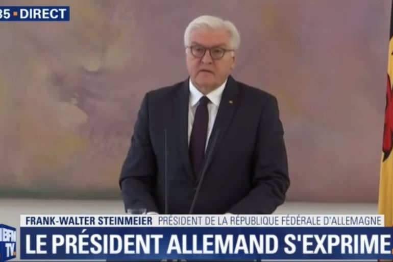 Le président de la République fédérale allemande, Franck-Walter Steinmeier exhorte les partis à trouver une entente (capture BFM)