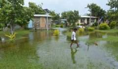 Les Îles Fidji après le passage du cyclone Winston, en février 2016. Les territoires insulaires figurent parmi les plus vulnérables au changement climatique. Shutterstock