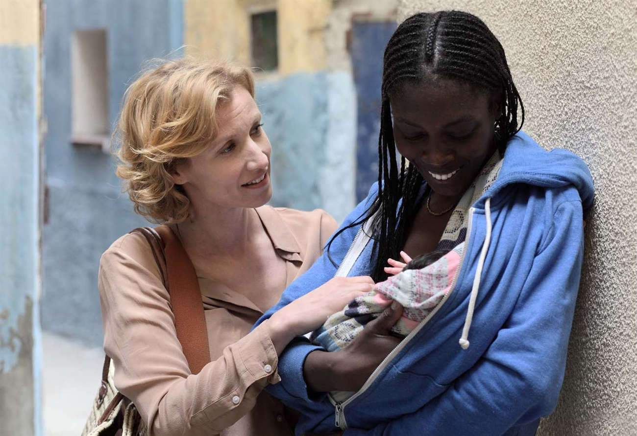 """Deux femmes et un bébé : Alexandra Lamy et Sonja Wanda dans le film de Nathalie Marchak, """"Par instinct""""."""