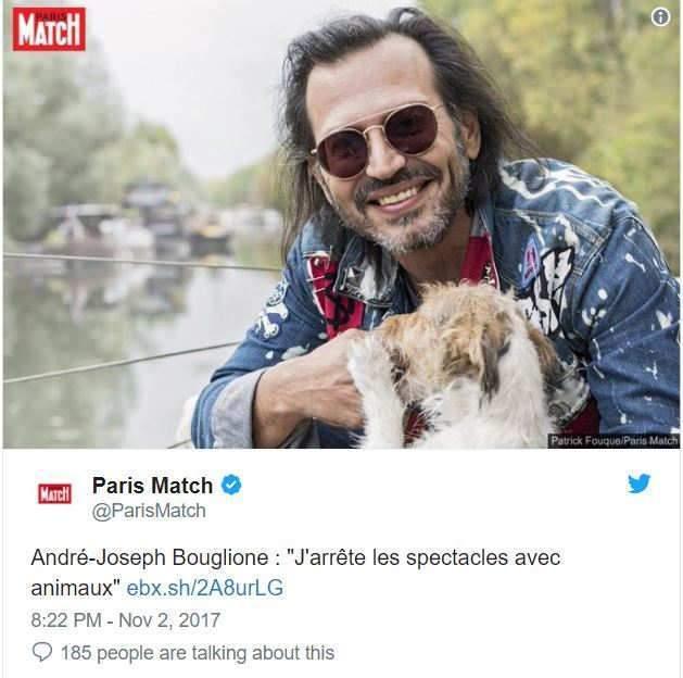 """Joseph Bouglione: """"j'arrête les spectacles avec animaux"""""""