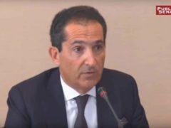 Patrick Drahi,patron du groupe Altice, auditionné par le Sénat en juin 2016. Public Sénat/YouTube