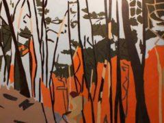 Triptyque issu de la série Feuernacht (peint 2012)