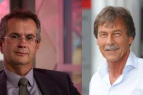 Pierre Mutzenhardt, président de l'université Lorraine et Manfred Schmitt, président de l'université de la Sarre